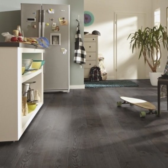 180mm High Gloss Silver Grey Oak Hdf Engineered European Wood Flooring 13 2 5mm Thick