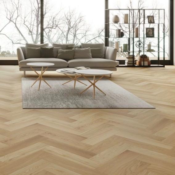70mm X 490mm Prime Oiled Oak Herringbone Engineered Wood Flooring