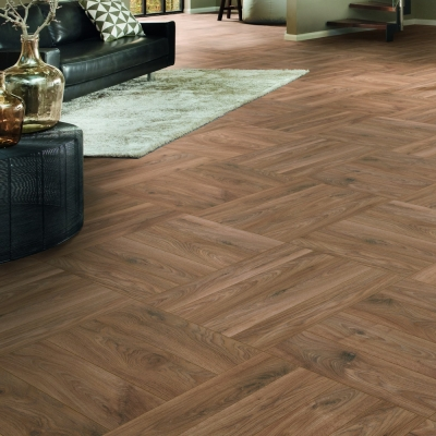 Nest 10mm Prestige Oak Herringbone Laminate Flooring