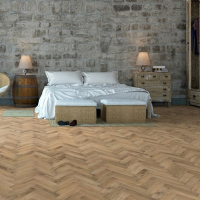 70mm x 350mm Invisible Oiled Solid Oak Parquet Wood Flooring Blocks, 18mm Thick