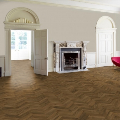 70mm x 280mm Smoked and Oiled Solid Oak Parquet Wood Flooring Blocks, 18mm Thick
