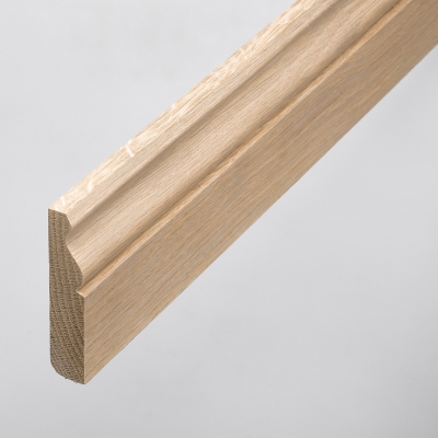 Unfinished Solid Oak Skirting Board 95 x 20mm