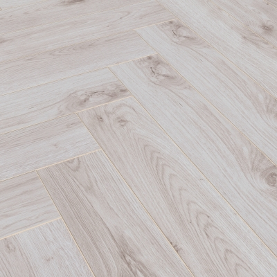 Nest 8mm Pale Oak Herringbone Laminate Flooring