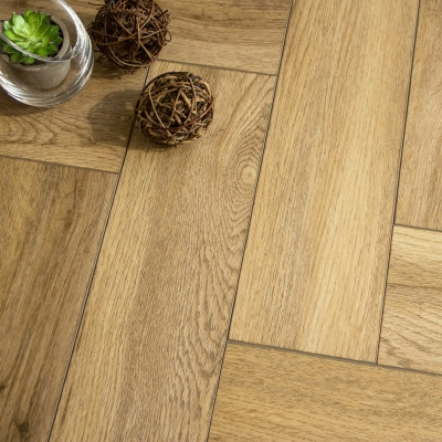 Nest Rigid Core Golden Herringbone Luxury Vinyl Flooring - 5mm Thick
