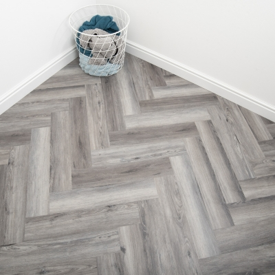 Nest Pewter Oak Click Rigid Core Luxury Vinyl Tile Wood Flooring - 6.5mm Thick (inc. 1mm Underlay)