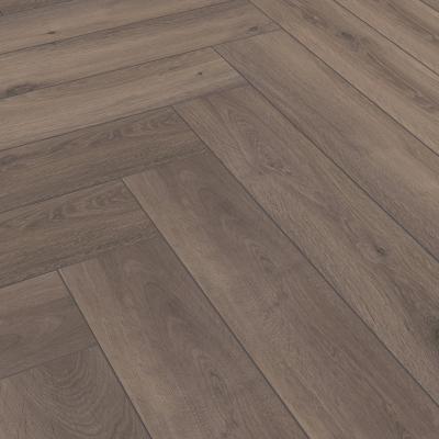 Nest 8mm Warm Chocolate Oak Herringbone Laminate Flooring