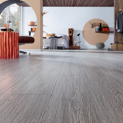 Nest 10mm Jetty Oak 4V Groove Laminate Flooring