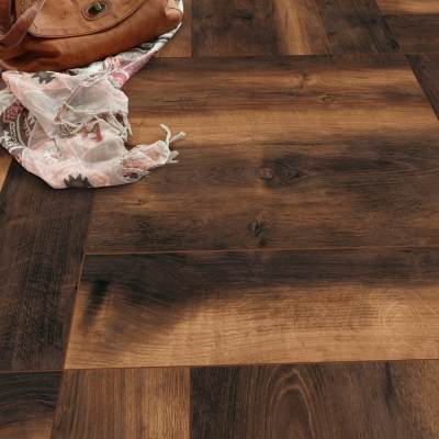 Nest 10mm Bear Oak Herringbone Laminate Flooring