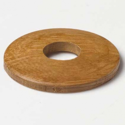 Lacquered Oak Pipe Covers