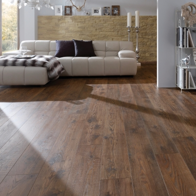 Nest 10mm Carmel Chestnut 4V Groove Laminate Flooring