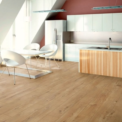Nest 12mm Amsterdam Oak 4V Groove Laminate Flooring
