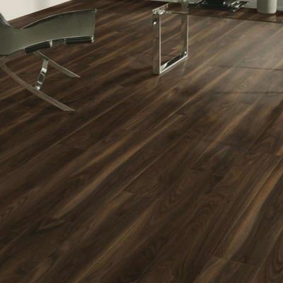 Nest 12mm Rio Walnut 4V Groove Laminate Flooring