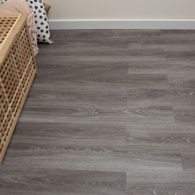 Nest Aged Chalk Grey Oak Click Rigid Core Luxury Vinyl Tile Wood Flooring - 6.5mm Thick (inc. 1mm Underlay)