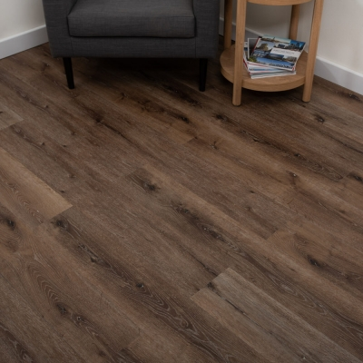Nest Mocha Oak Click Rigid Luxury SPC Vinyl Flooring - 6.5mm Thick (inc. 1mm Underlay)