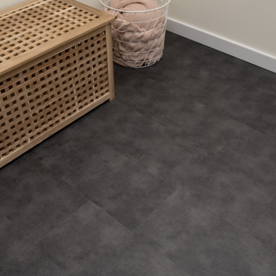 Nest Grey Slate Click Rigid Core Luxury Vinyl Tile Flooring - 6.5mm Thick (inc. 1mm Underlay)