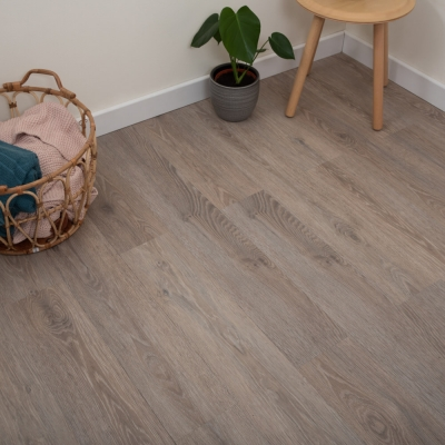 Nest Taupe Oak Click Rigid Luxury SPC Vinyl Flooring - 4mm Thick