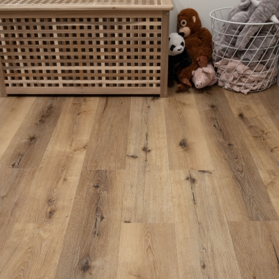 Nest Royal Oak Click Rigid Core Luxury Vinyl Tile Wood Flooring - 6.5mm Thick (inc. 1mm Underlay)