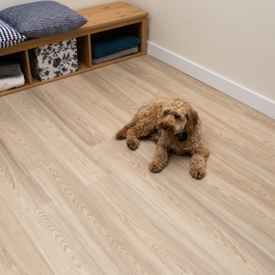 Nest Polar Oak Click Rigid Core Luxury Vinyl Tile Wood Flooring - 4mm Thick (inc. 1mm Underlay)