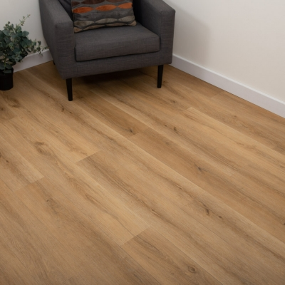 Nest Tawny Oak Click Rigid Luxury SPC Vinyl Flooring - 4mm Thick