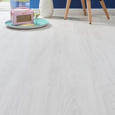 Nest Everest Fog Luxury Vinyl Tile Wood Flooring - 2.5mm Thick