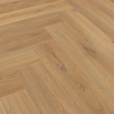 Nest 8mm Light Golden Oak Herringbone Laminate Flooring