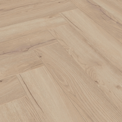 Nest 8mm Unfinished Oak Herringbone Laminate Flooring