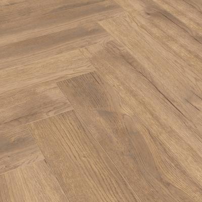 Nest 8mm Dark Golden Oak Herringbone Laminate Flooring