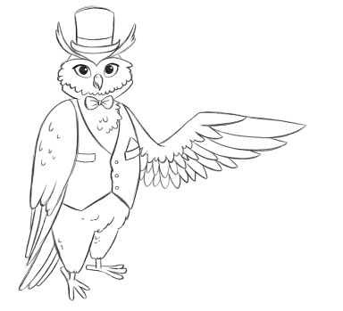 Luxury Flooring Owl Pointing