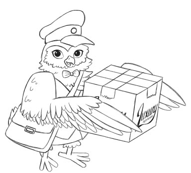 Luxury Flooring Owl Carrying Box