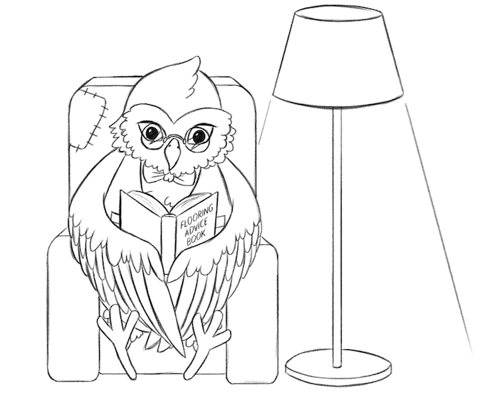 Luxury Flooring Owl Reading